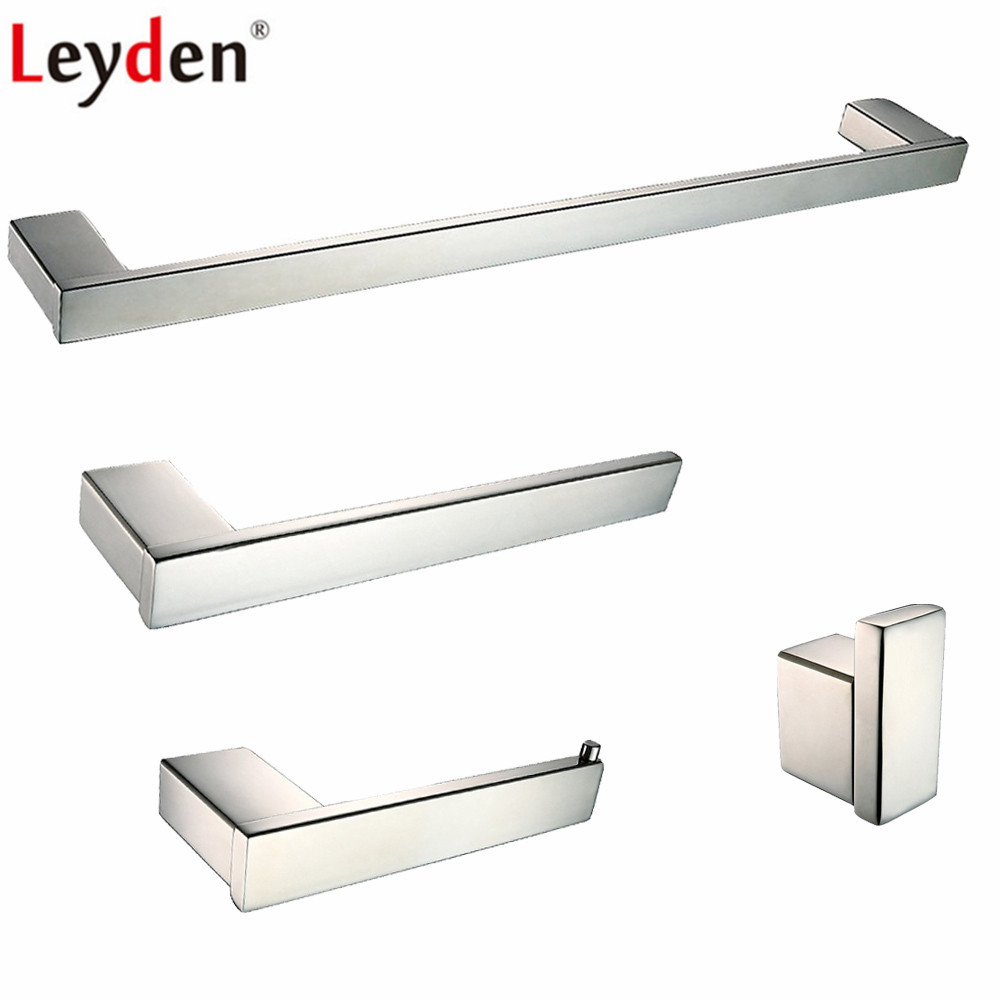 Leyden 4pcs Bathroom Accessories Set Chrome 304 Stainless Steel ...