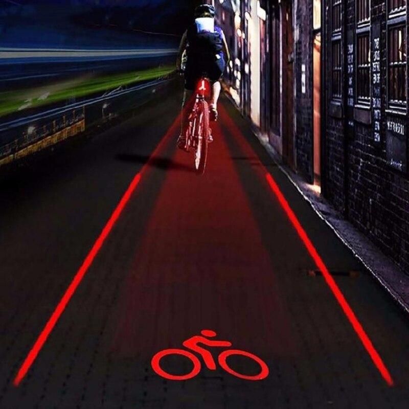5 LED+2 Laser Beams LED Bicycle Laser Light Taillight Bike Rear Light Beam Safety Turn Signals LED Lights