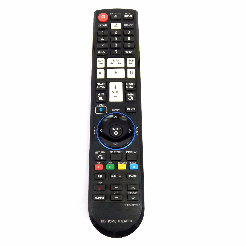 Used 90% Original FOR LG BD HOME THEATER Remote control AKB72955403 original used 90