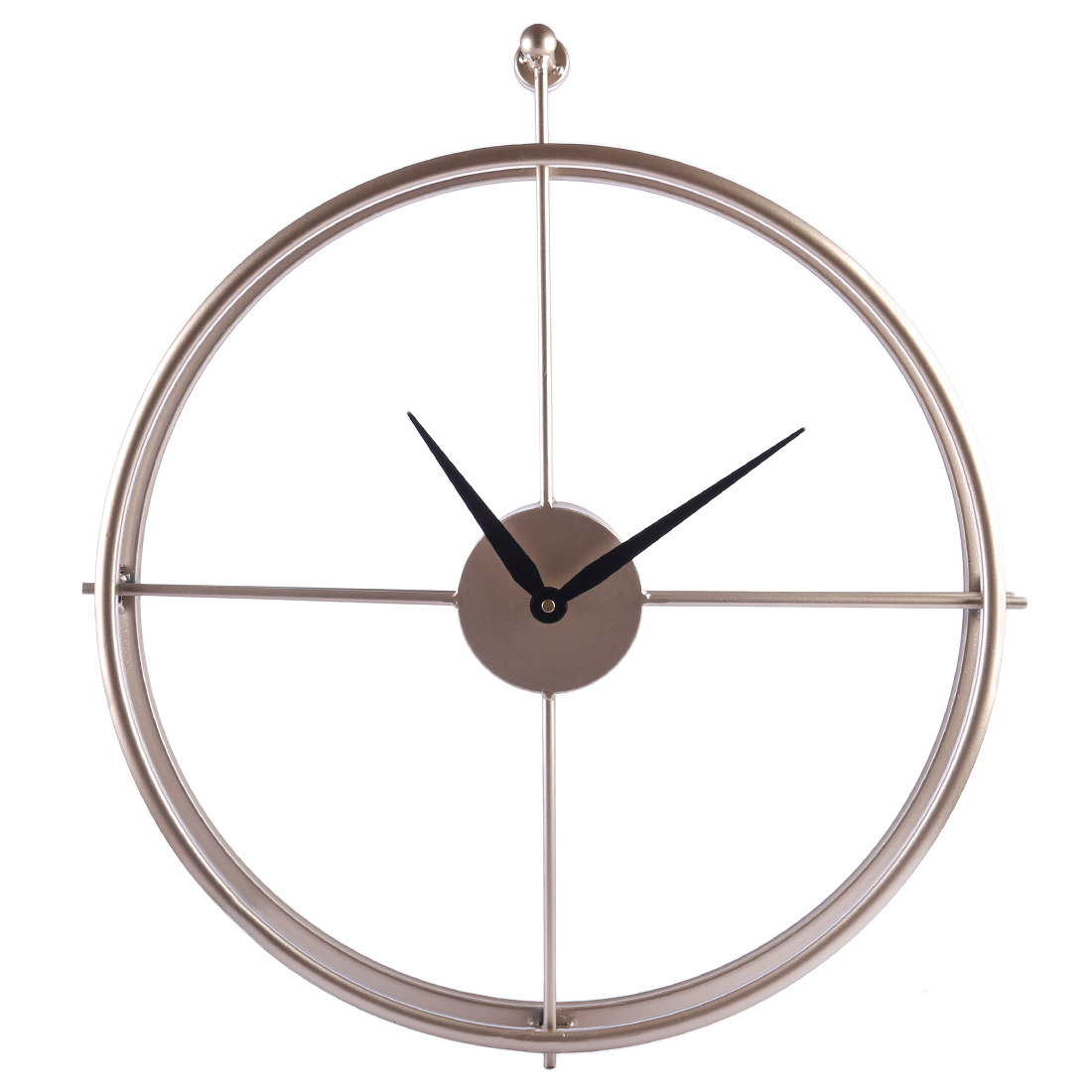 Hot Unique 55cm Large Brief European Style Silent Iron Wall Clock Modern Design For Home Office Decor Hanging Wall Watch Clocks gold metal duvar saati