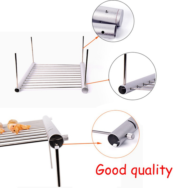 Image 5 - Outdoor Easy Disassembling Food Grade Stainless Steel BBQ Charcoal Grill Outdoor Camping Portable Barbecue Mini Cooker-in Outdoor Stoves from Sports & Entertainment