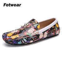 Fotwear Men Loafer Slip on casual shoes Butterfly tattoos upper Lightweight and fashion for young people Driving shoes Loafers