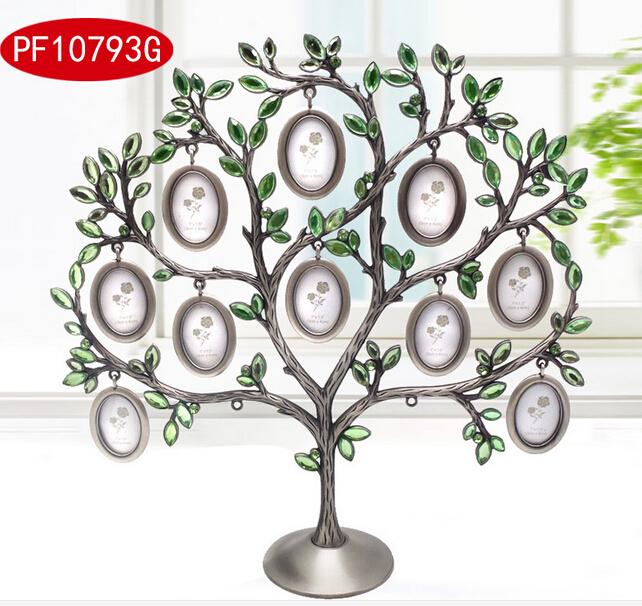 European Happiness tree 12 small photo frame baby picture frame alloy metal frames for painting pictures