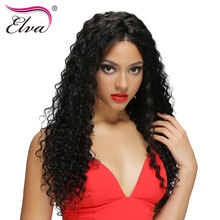 Elva Hair Lace Front Human Hair Wigs For Black Women Curly Lace Front Wig Brazilian Remy Hair Wigs With Baby Hair Bleached Knots
