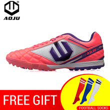 AOJU Soccer Shoes TF Hard Court Turf Football Boots Cleats Trainer Botas Chuteira Futsal Men Sneakers
