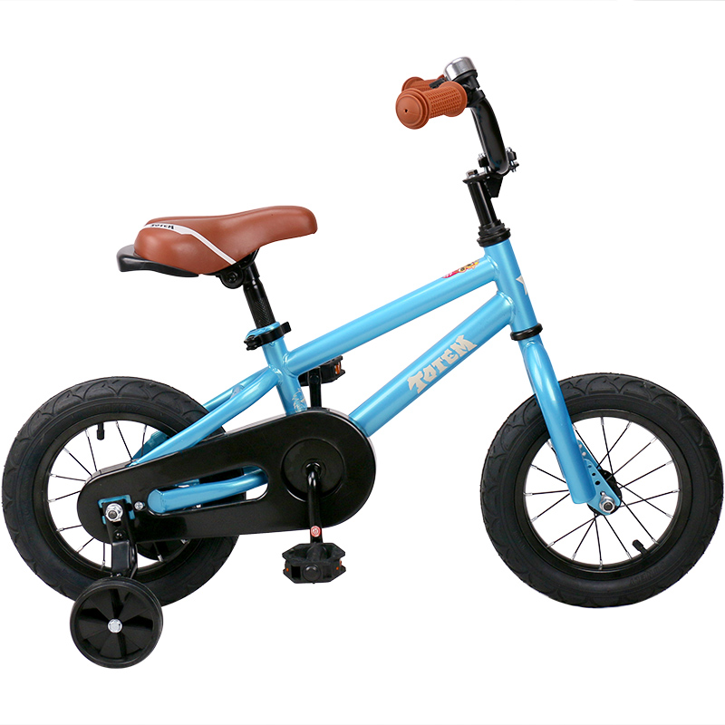 HTB1mQikb4SYBuNjSsphq6zGvVXap 12 Inch Kids Bike Totem DIY Blue Steel Kids Bike DIY Sticker Kids Bicycle with Detachable Training Wheels and Bell
