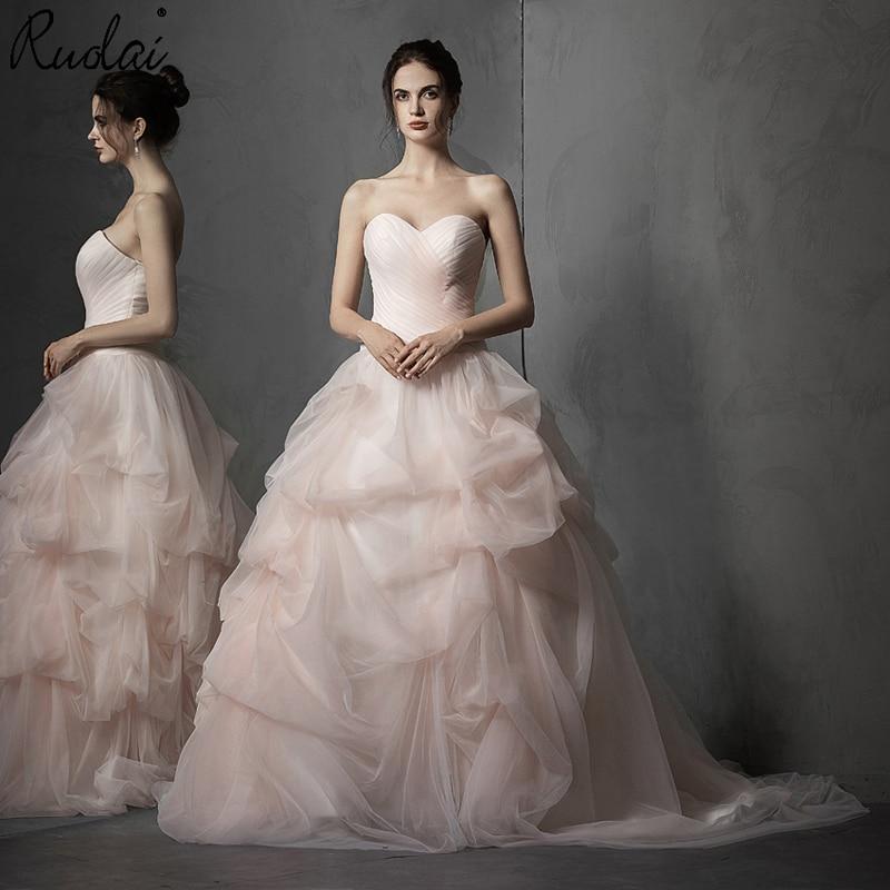 Новое поступление, розовое свадебное платье без бретелек, бальное платье для невесты, vestido de noiva, 2019