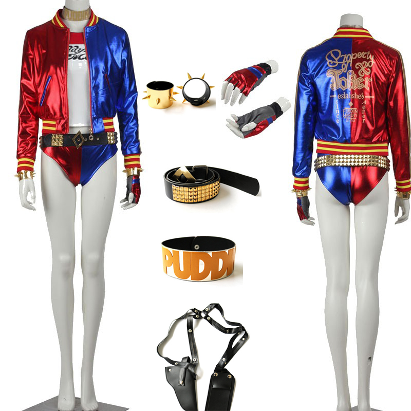 Original Edition Suicide Squad Harley Quinn Joker Cosplay Costume Special Costume High Quality Full Set Any Size For Unisex