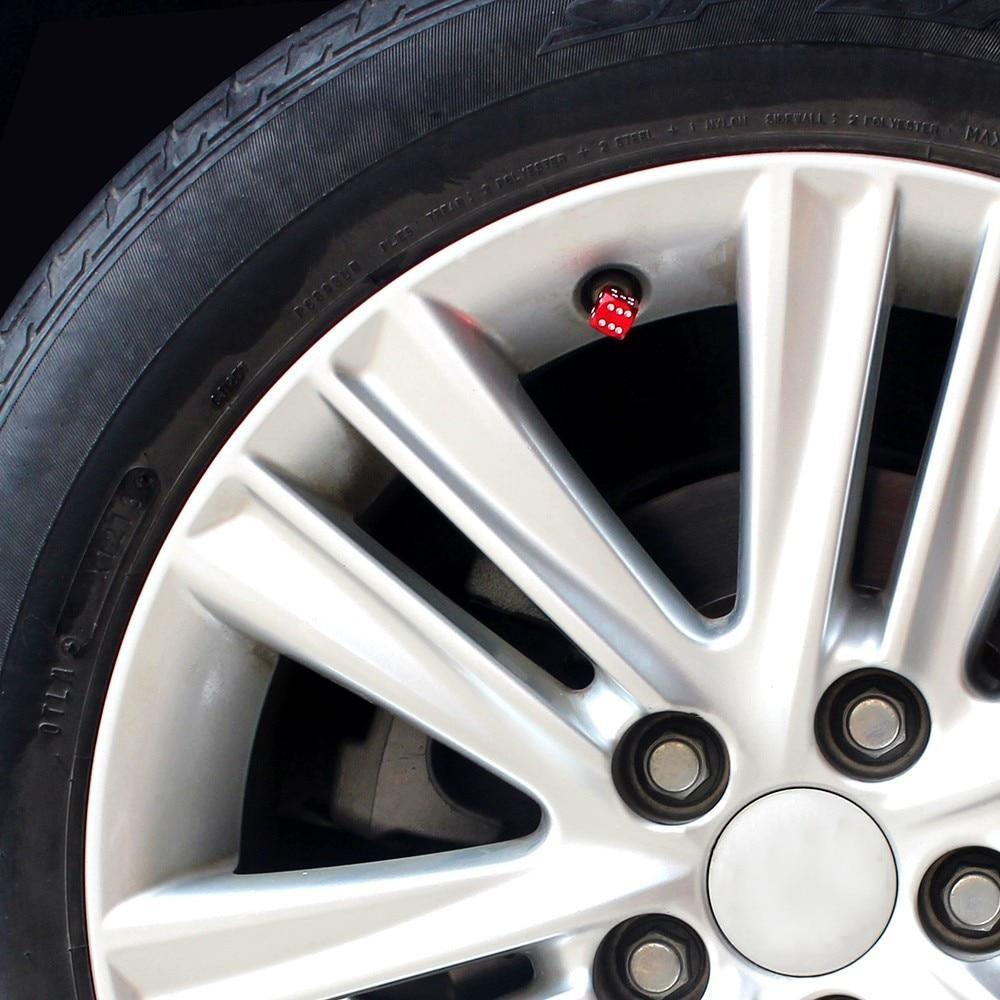 AUTO Dice Dust Valve Caps Car Motorcycles Electric Cars Tire Valve Dust Cap