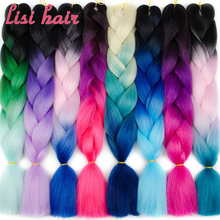 Hair-Extensions Braiding Jumbo Crochet Lisi Hair Synthetic-Hair-Style Pink 24inch Pure-Blonde