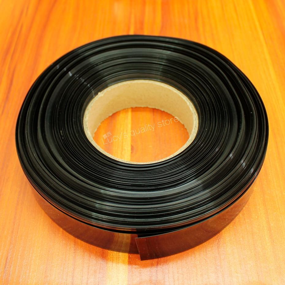 Купить с кэшбэком 100M 18650 battery PVC heat shrinkable membrane battery outer skin package casing pipe shrink diameter 30MM wide *0.08 thicknes