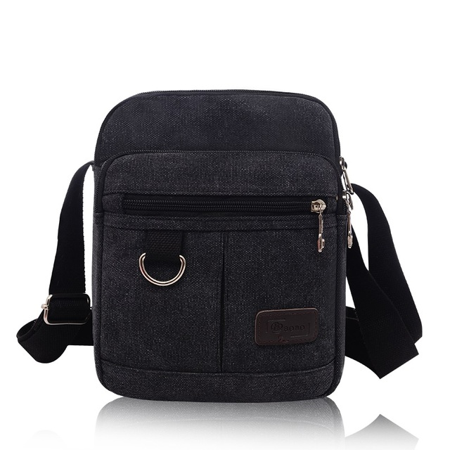 7f4f38bac48e New Multifunction Men Quality Canvas Bag Casual Travel Men's Cross Body  Shoulder Bag Small Men Messenger Bags Flap Wholesale-in Crossbody Bags from  ...