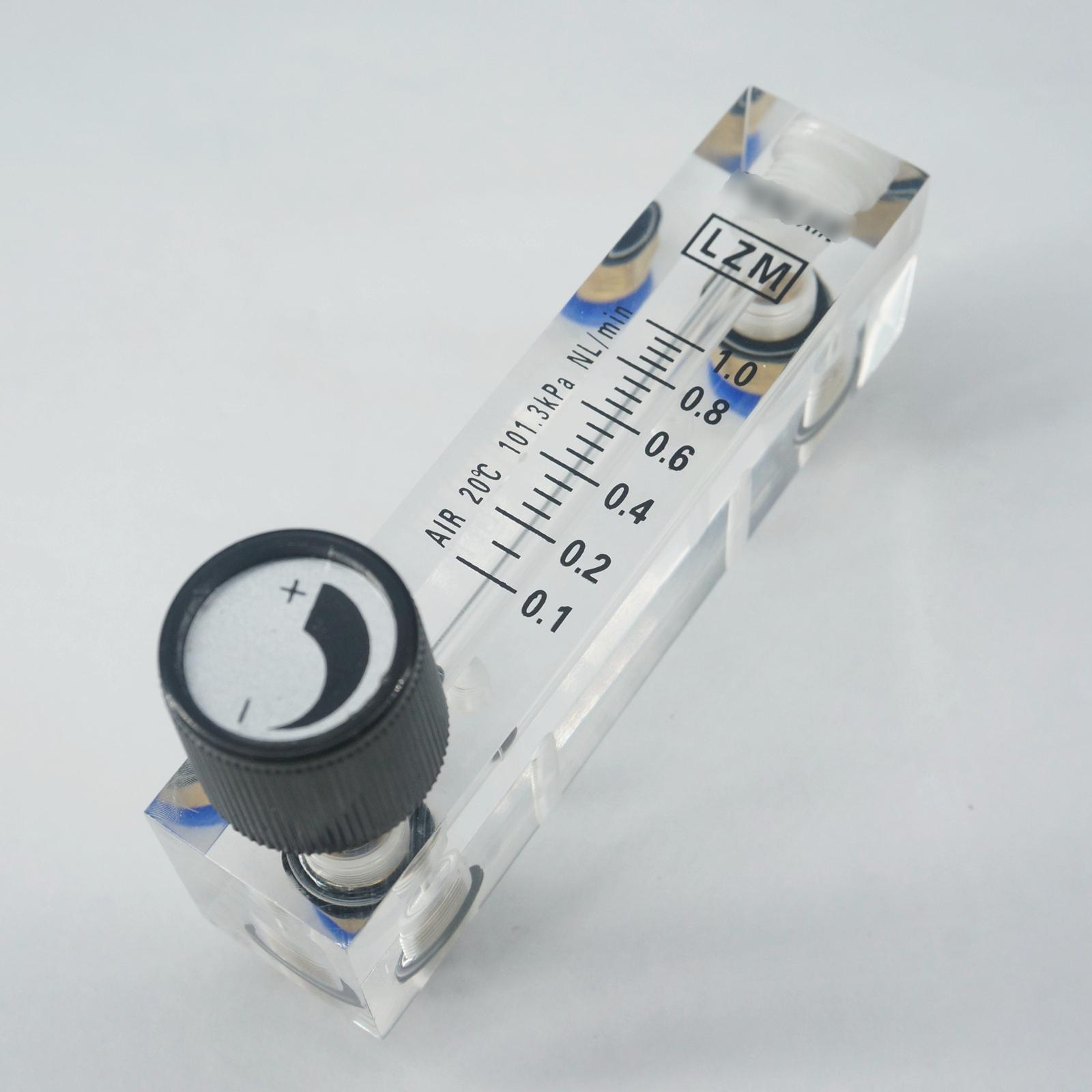 0,1-1lpm Lzm-4t Acryl Panel Panel Air Durchflussmesser Rotameter Mit Regelventil Push In Fit 6mm Od Rohr