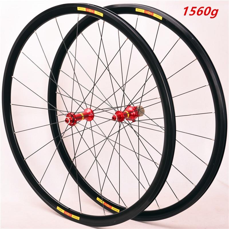 Ultra Light Bike Wheel Set 700C 24H V Brake Wheels Bmx Road Bicycle Wheel Aluminium Alloy Road Whee  First Two Rear Four Bearing