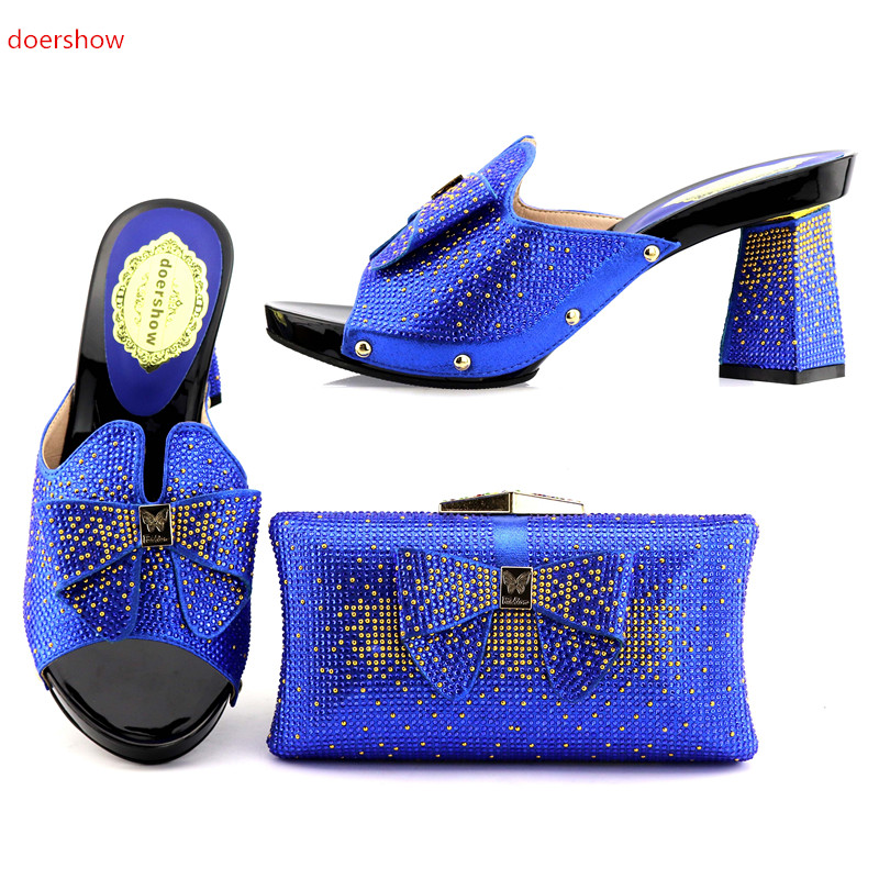 doershow Shoes and Bag To Match Italian High Quality Matching Italian Shoe and Bag African Shoe and Bag Set for Party KGB1-5 shoes and bag to match italian african shoe and bag set for party in women italian matching shoe and bag set doershow hjt1 25