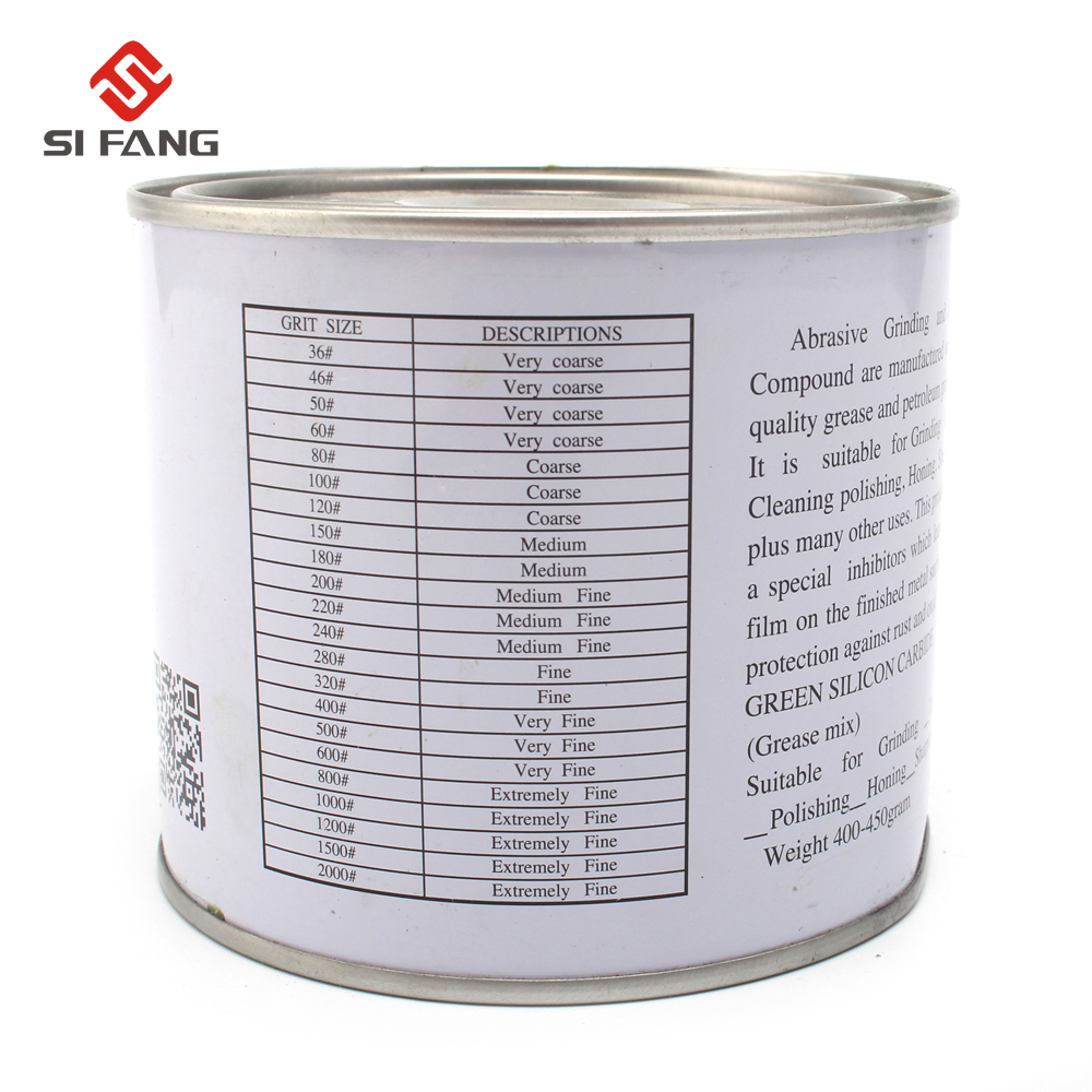 Grit 80- 2000# Diamond Carborundum Polishing Lapping Paste Pastes Compound Abrasive Gringding Tool 445g 85mm*70mm 1 Bottle
