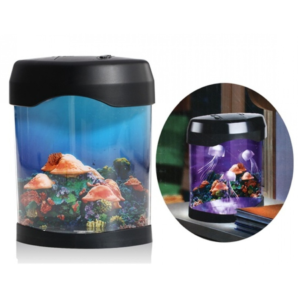 Usb mini aquarium fish tank with colorful light - Aliexpress Com Buy Originality Led Jellyfish Aquarium Mood Lamp Led Artificial Multi Colored Swimming Jellyfish Mini Fish Tank Mood Lamp Nightlight From
