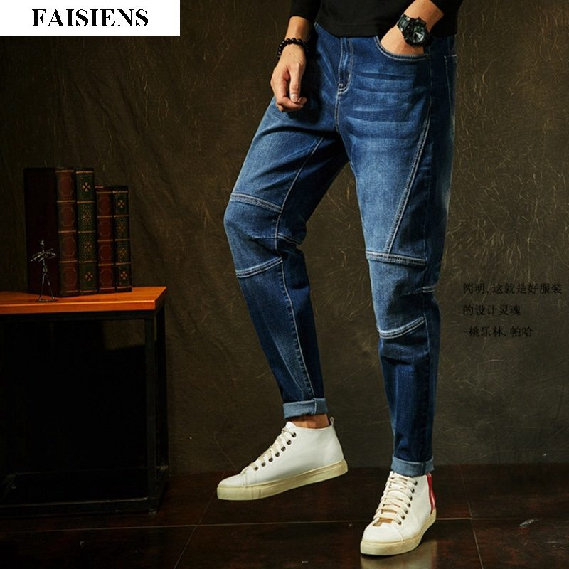 10XL Men Jeans Large Size Big Pencil Pants Elasticity Hipster Patchwork Trousers Straight 7XL 8XL 9XL Spring Summer  Jeans