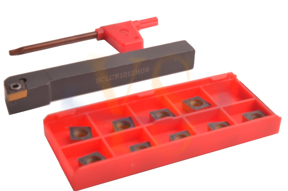 ФОТО 12MMX12MM SCLCR Turning Toolholder +10pcs CCMT Carbide inserts CNC Lathe Tools
