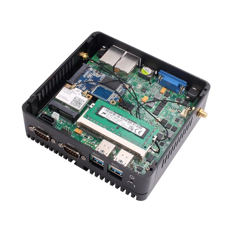Image 5 - HLY Mini PC Dual LAN Celeron N2810 Celeron J1900 Mini Computer Gigabit LAN Windows 7 pfsense firewall PC Mini 2*COM HDMI TV BOX-in Mini PC from Computer & Office