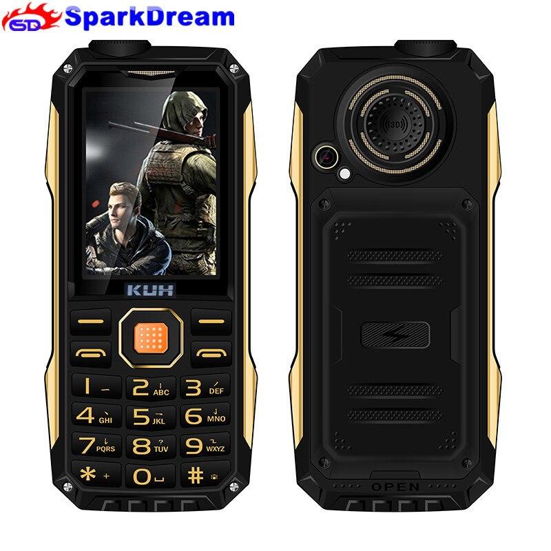 "KUH T998 Telefon 2,4 ""Power Bank Handy Niedrigen Preis Dual Sim Kamera MP3 Stoßfest Staub Robusten Sport Günstige telefon"