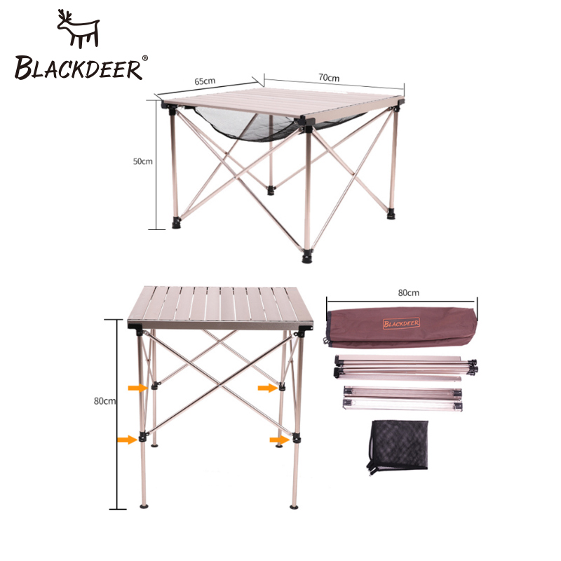 Blackdeer camping picnic tables portable aluminum alloy table product watchthetrailerfo