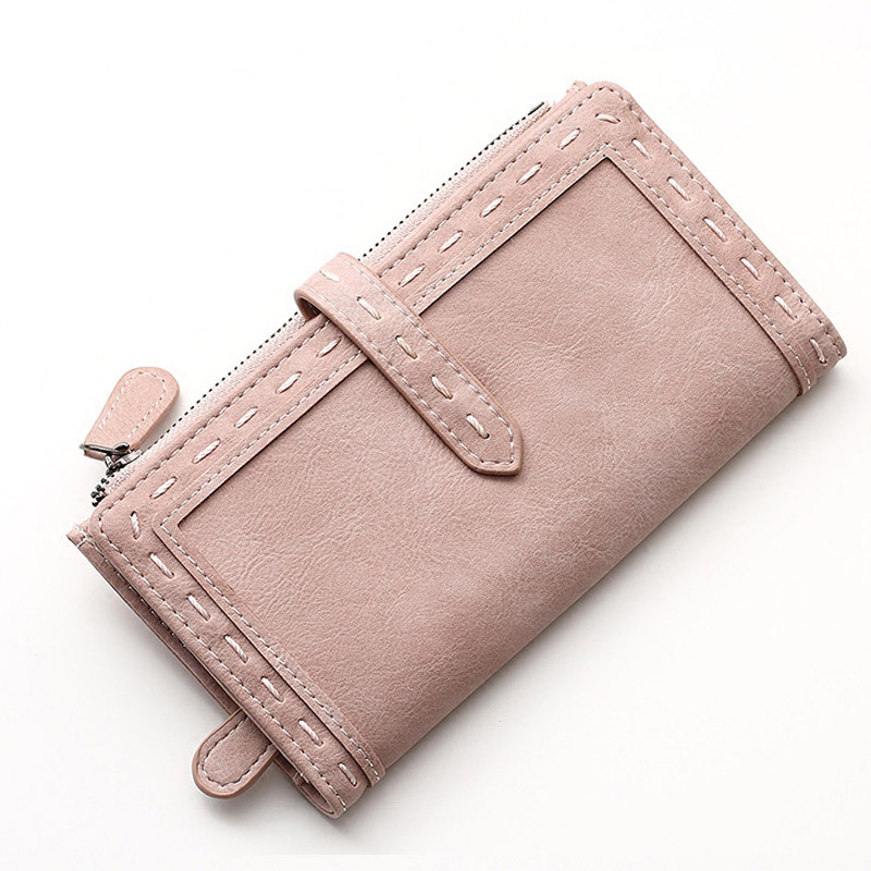 New Brand Women's Purse Fashion Lady PU Leather Long Women Wallet Female Purse Women Clutch Bag Money Coin Pocket Card Holder new design fashion leather women lady purse long burgundy wine red coin case cell mobile iphone handy clutch bag wallet quality