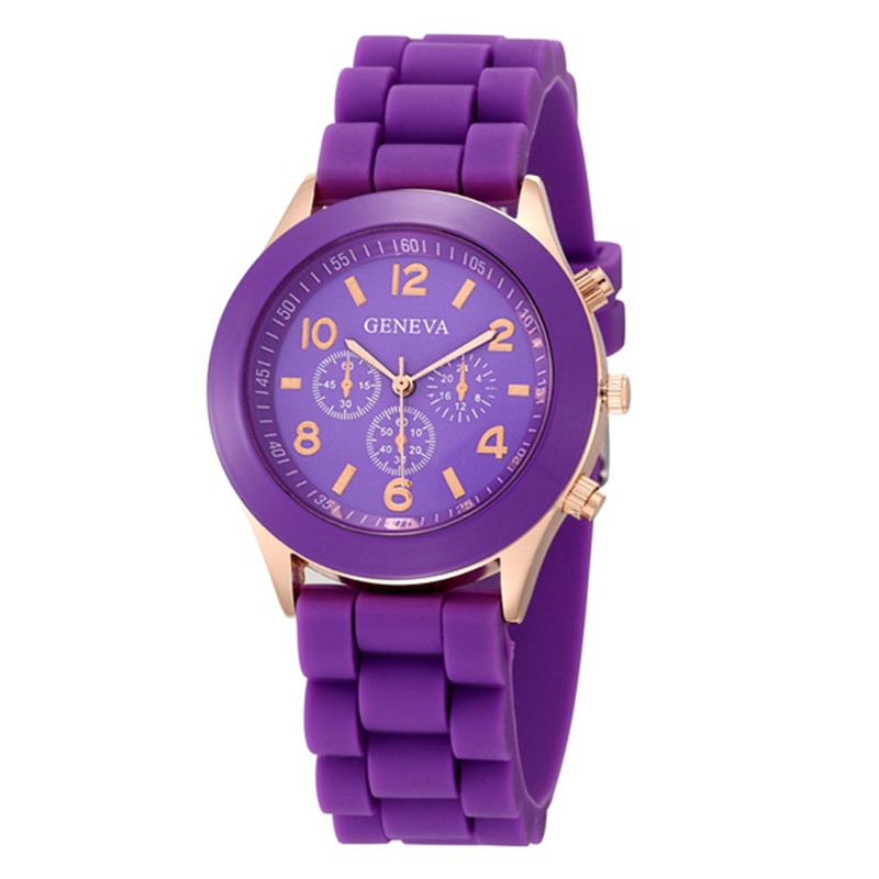 Cute Purple Dial 2019 New Stytle Women's Watch Silicone Watchband Analog  Female Sport Quartz Wristwatch Relojes Para Mujer