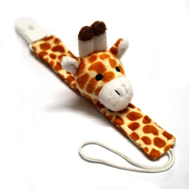 Cute Plush Baby Pacifier Holder Nipple Chain BabyTeether Chain Toy Dummy Holder Chain Pacifier Clip Pacifier Chain B0736 2