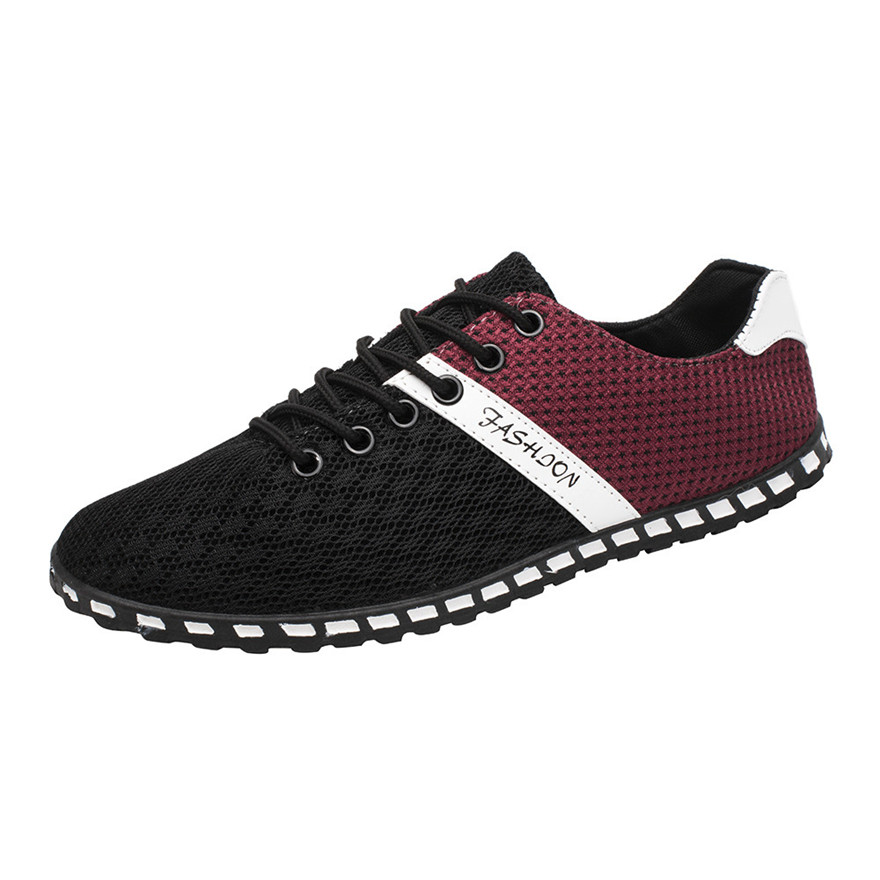 New Style Fashion Men Casual Mesh Comfortable Breathable Sneakers Flat Shoes Men loafers tenis masculino adulto sepatu pria d mycolen 2018 brand new spring autumn men breathable loafers black shoes lightweight fashion casual men shoes sepatu pria