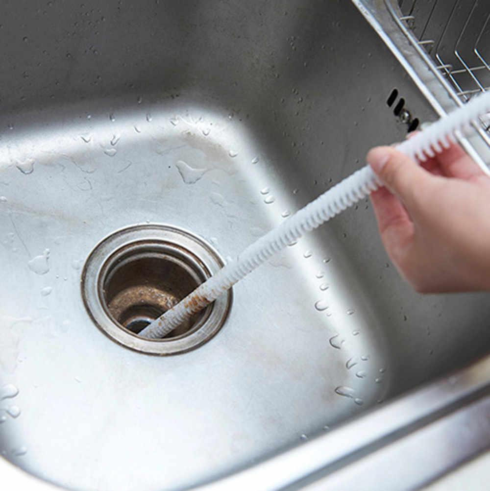 Tubo Scarico Lavandino Bagno strumenti di pulizia fogna di scarico tubo di fogna spazzola per pavimenti  draga casa lavello vasca ganci del pennello bagno spazzola di pulizia dei