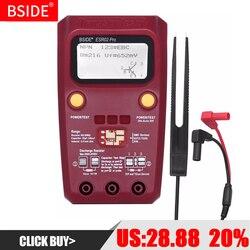 Bside esr02pro digital transistor tester smd componentes diodo triode resistência capacitância indutância multímetro esr medidor