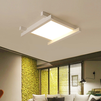 LED Modern Ceiling Lights Creative Acrylic Fixtures Children Bedroom Ceiling Lamps Nordic Novelty Iron Square Ceiling