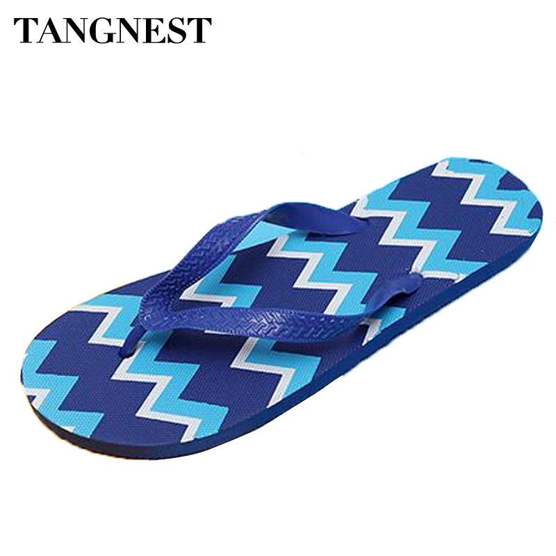 Tangnest Fashion Wave Printed Slippers 2017 Summer Men Outside Flip Flops Man PVC Beach Sandals Soft Flat Slides For Man XMT229 2 pieces lot vacuum cleaner bags dust bag for national mc3300g 3300r 3310 mc e94 mc e96 c5c etc