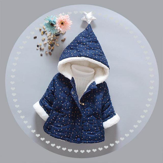 4-24meses Chaqueta de Invierno Recién Nacido Bebé Infantil prendas de Vestir Exteriores Gruesa de Algodón Niñas Generales Para Niños Boy Chaquetas Abrigos y Chaquetas de Bebé Caliente