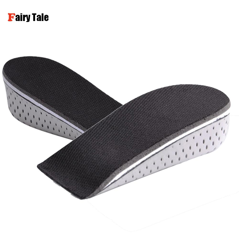 4pcs/2Pairs Men Women Heel Height Increase Insoles Taller Invisible EVA Foot Pad Shoe Lift Inserts Feet Care 2.3/3.3/4.3CM