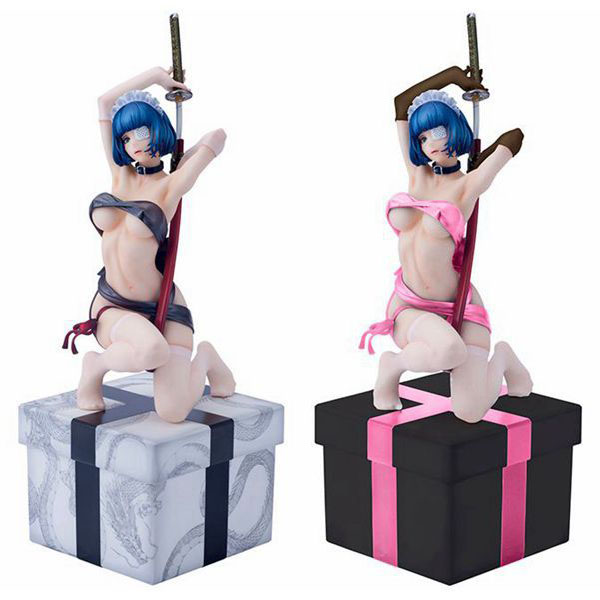 Free Shipping Sexy 10 Anime Ikkitousen Ryomou Shimei 2 Color Boxed 25cm PVC Action Figure Collection Model Doll Toy Gift free shipping anime 8 7 one piece p o p pop nami after 2 years sexy boxed pvc action figure collection model toy gift opfg035