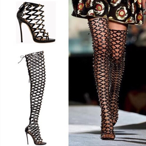 On Sale Over Knee Thigh High Boots Tall gladiator Sandals Boots ...