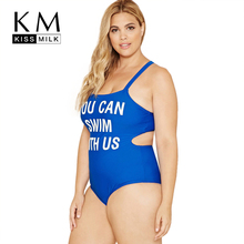 Kissmilk Women's Plus Size Spaghetti Strap Swimsuit