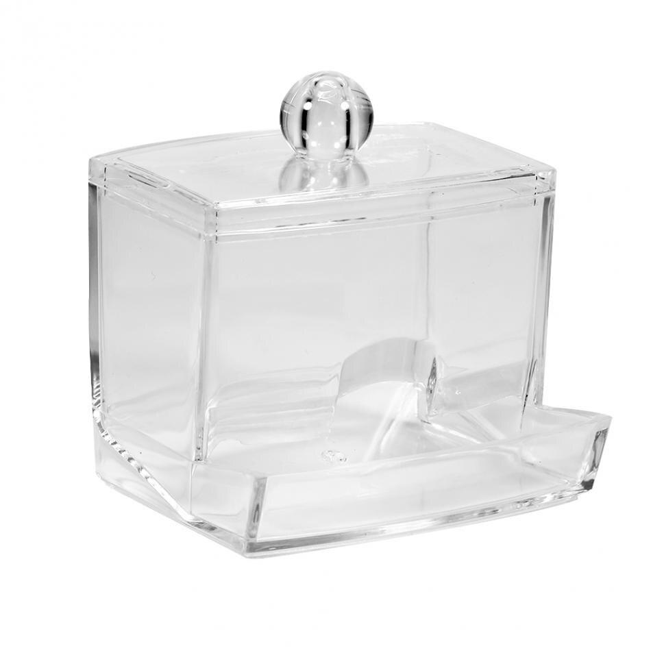 Organizer Box Case Container Makeup-Storage Transparent-Holder Cotton-Pads Practical
