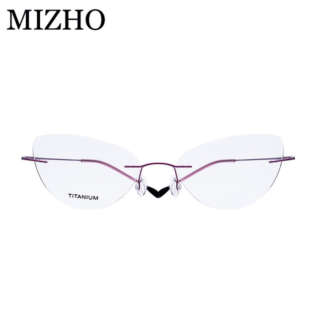 Online Shop MIZHO Brand 15g Super Light Cat eye glasses Frames For ...