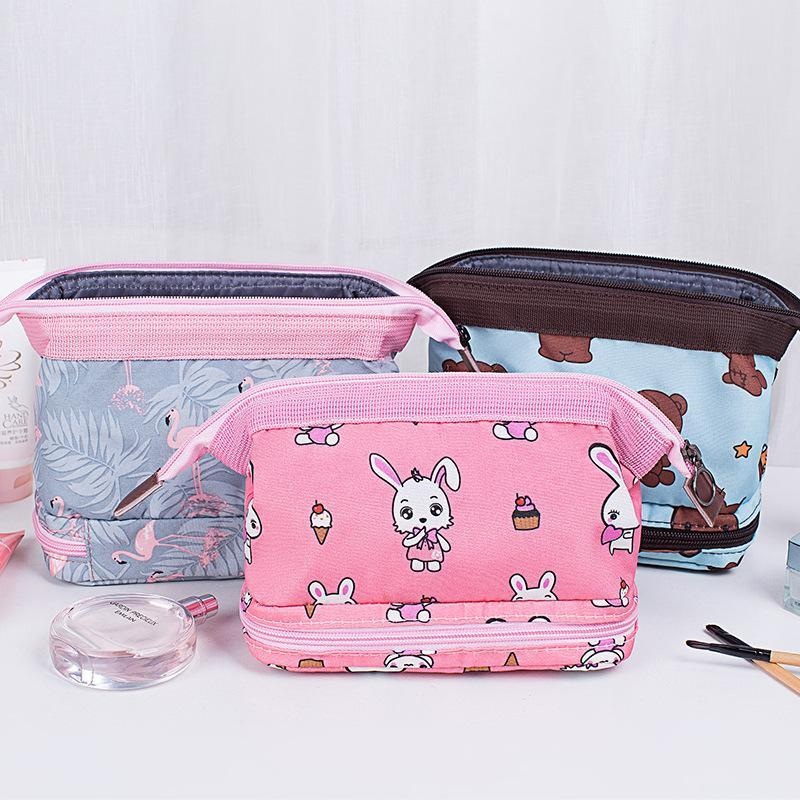 Makeup Bag Zipper storage bag Waterproof Women Travel organizer Cosmetic Storage Pouch Toiletry Beauty Wash Kit Bags #11030