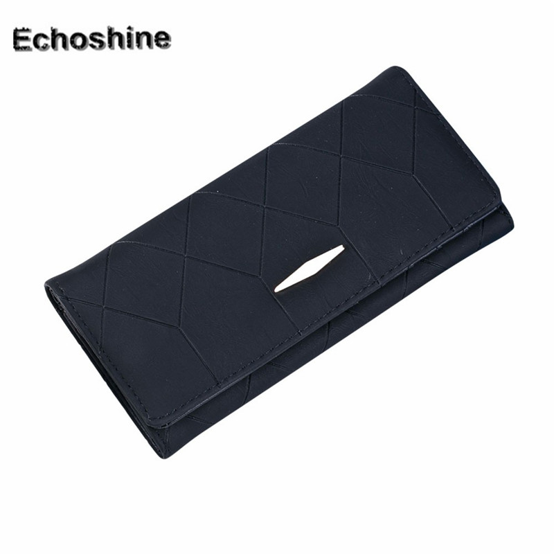2016 high quality Women PU leather Solid Hasp Coin Purse Long Wallet Card Holders Handbag clutch wholesale A0000 mooistar2 3001 women solid color coin purse long wallet card holders handbag