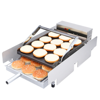 التجارية التلقائي آلة همبرغر همبرغر الخبز همبرغر فرن تسخين آلة محمصة-في آلات ضغط البرغر اليدوية من المنزل والحديقة على