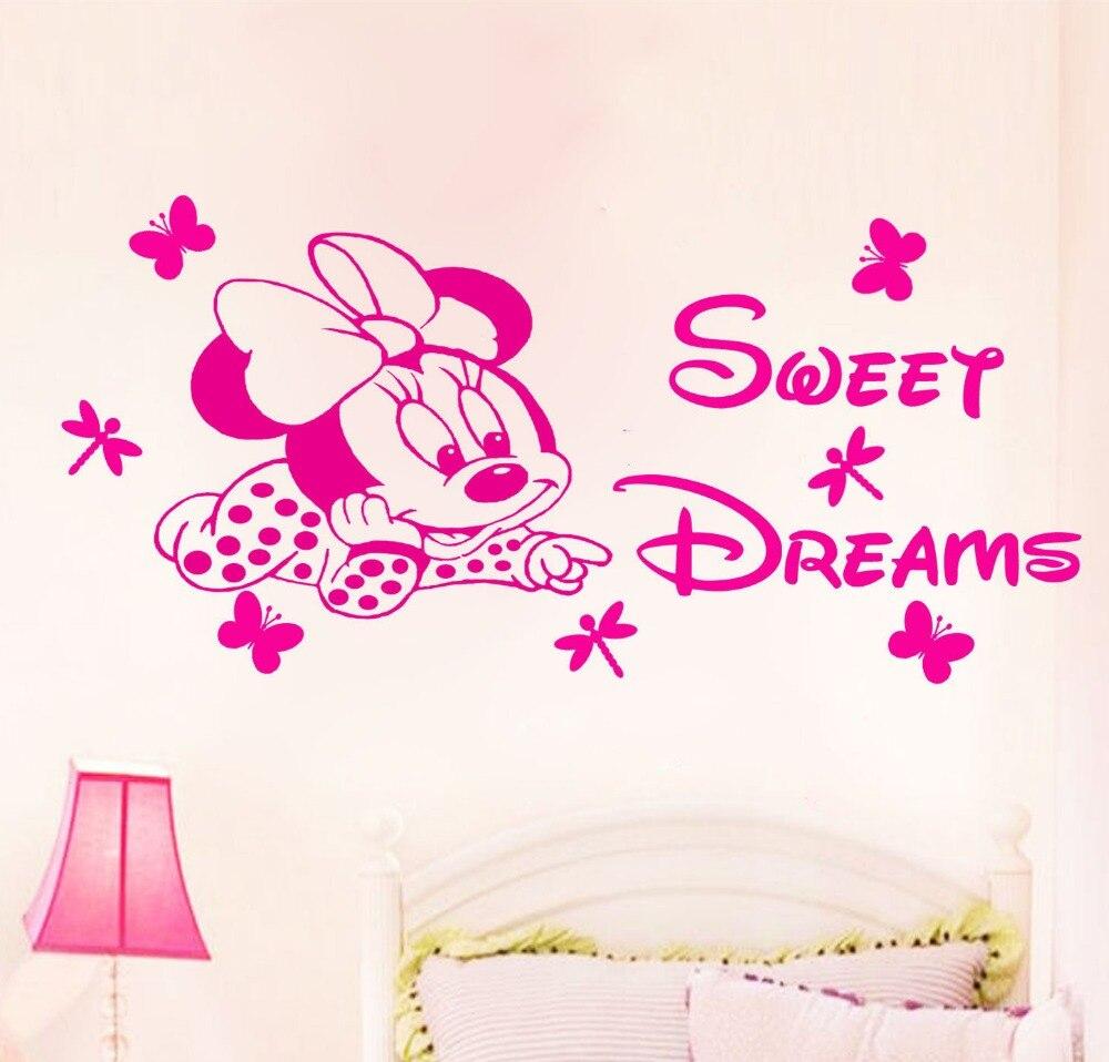 Niedlichen Cartoon Kinderzimmer Aufkleber Minnie Maus Süße Träume ...