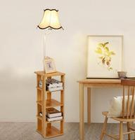 Simple modern bookshelf desk sofa coffee table light bedroom living room bedside table lace LED floor lamp TA928322