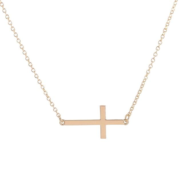 Top selling sideways cross necklace dainty statement necklace top selling sideways cross necklace dainty statement necklace cross pendant necklace ey n035 aloadofball Gallery