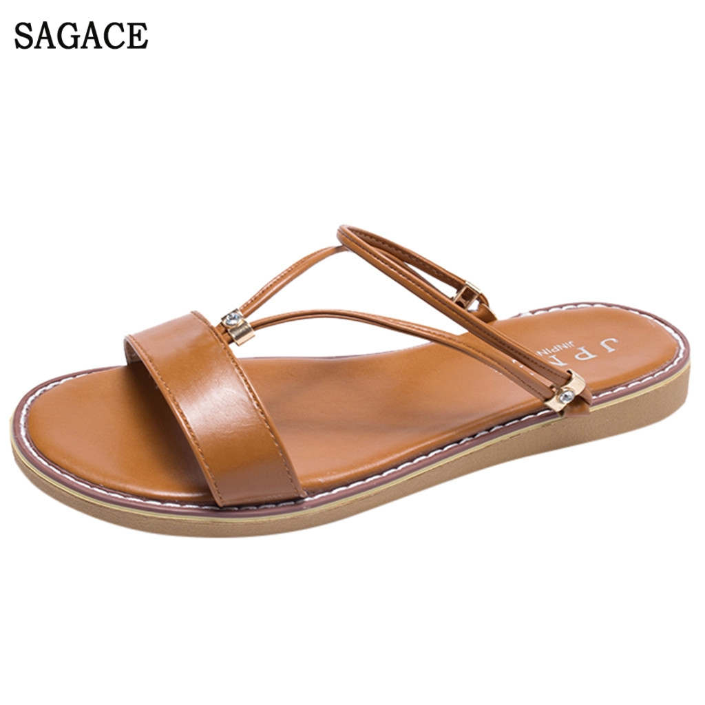 SAGACE Womens Fashion Casual Open Toe Slides Flat Sandals Beach Shoes Sexy High Quality Outsid Ladies Shoes SlippersSAGACE Womens Fashion Casual Open Toe Slides Flat Sandals Beach Shoes Sexy High Quality Outsid Ladies Shoes Slippers