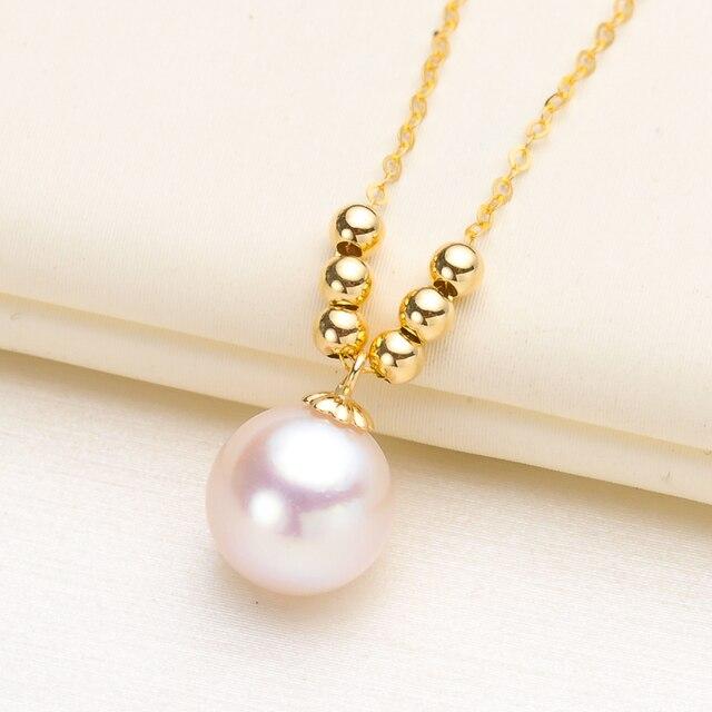 Genuíno 18 k amarelo ouro corrente colar descobertas e componente pingente 18 polegadas au750 jóias colar feminino agradável presente