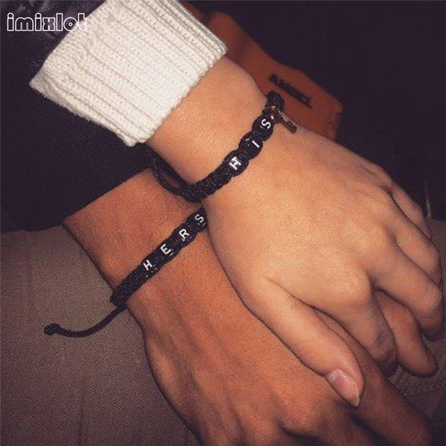 imixlot Letter Strap Woven Bracelet With Key Love Lock Bracelets For Lovers Coup